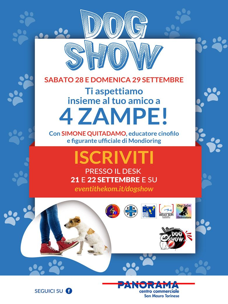DogShow presso il c.c. Panorama San Mauro Torinese